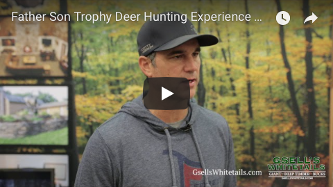 father son trophy deer